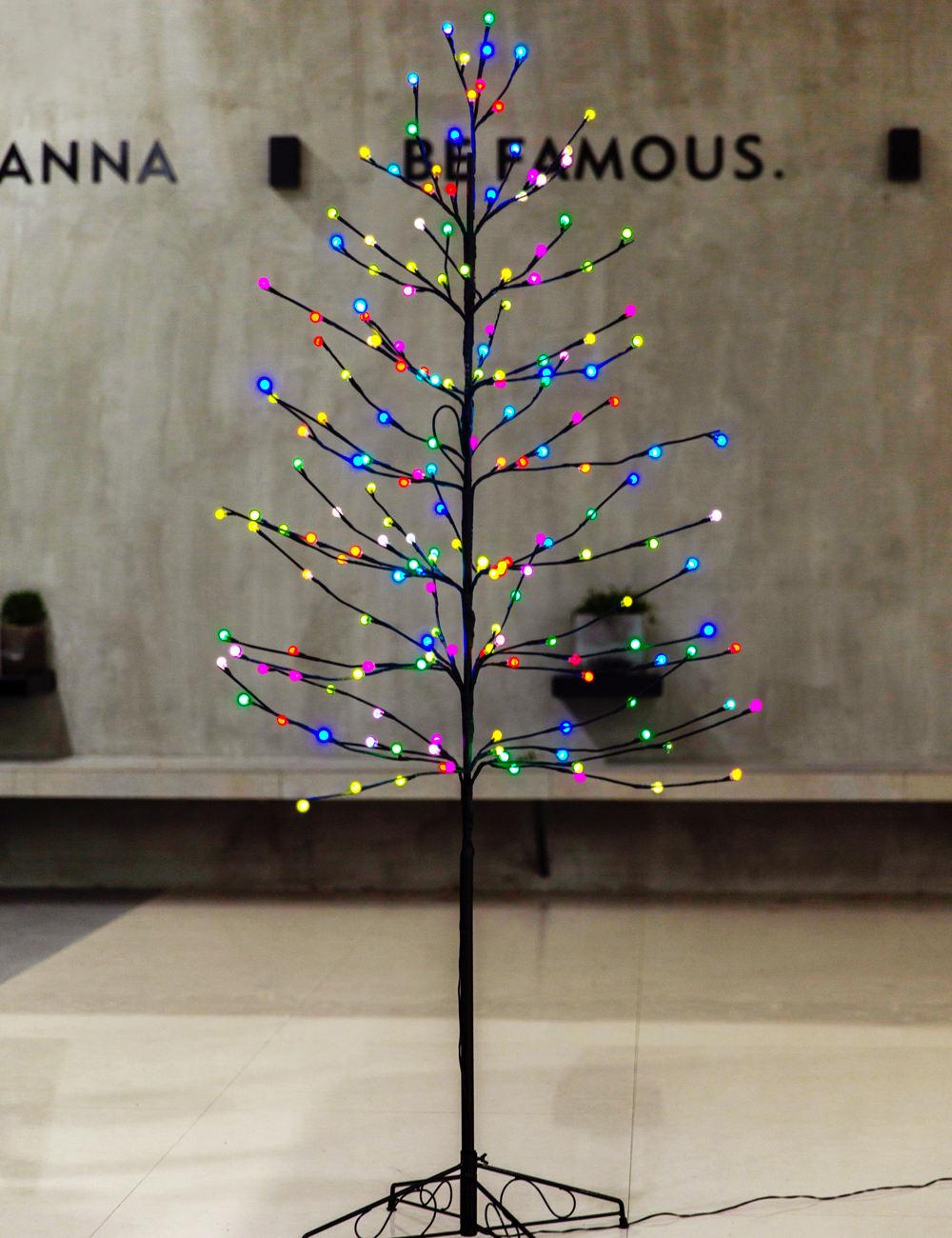 Bolylight LED colorido Fosco Bola de Natal Luzes Da Árvore de Decoração para Casa/Quarto/Festa