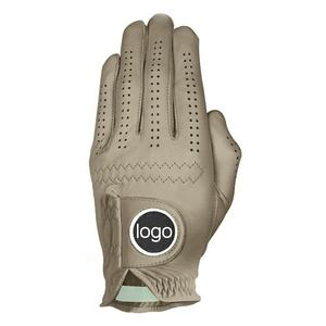 Customized logo high quality left or right hand leather Sports golf gloves