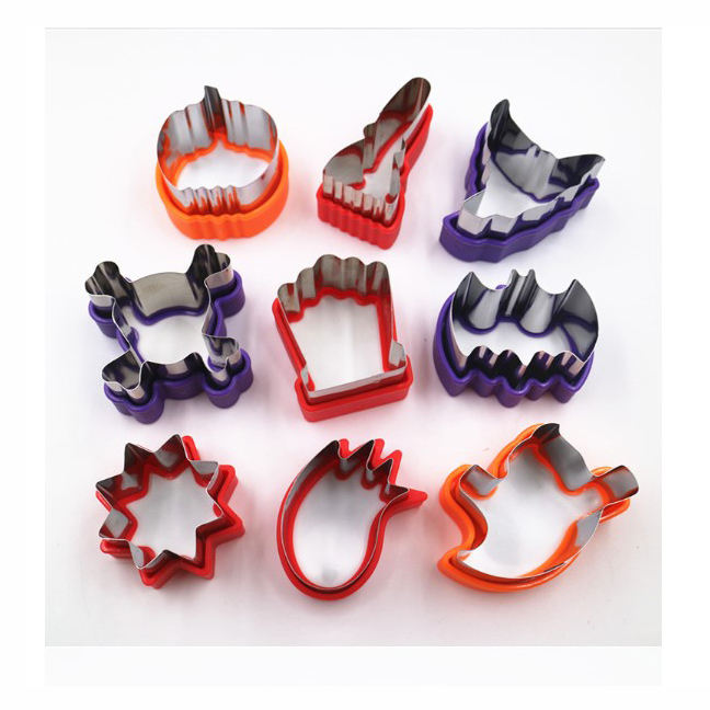 Halloween Christmas cookie cutter set stainless steel sandwich cutters for kids