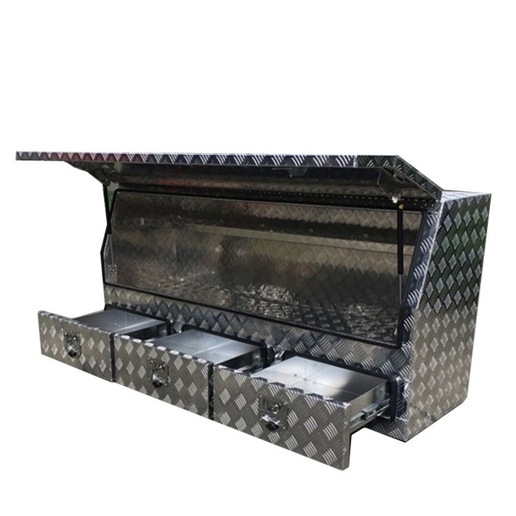 High quality Waterproof Trailer Pickup Truck Aluminum Storage Tool Box With Drawers