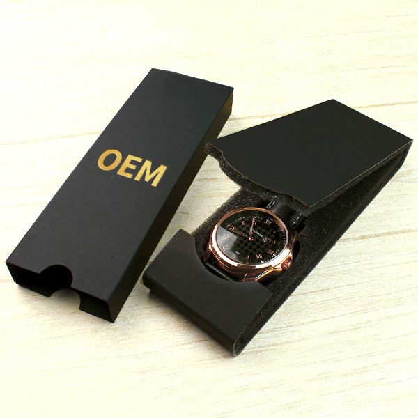 YAZOLE D MY-01 Hot Kraft Folding Black Gift Watch Boxes With Your Own Logo Custom Wristwatch Box For Sale