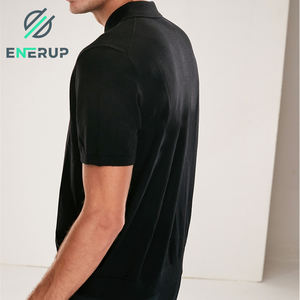 Enerup Custom Merino Wool Premium Unbranded Sweaters Athletic Work Racing Golf Slim Organic Cotton Mens topi Polo T Shirt