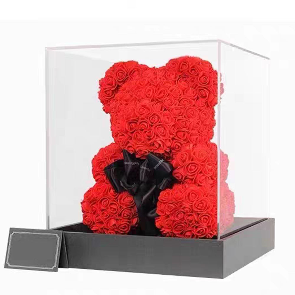 Teddy Bear Of Roses Gift Flower With Preserve Rose 25/4070センチメートルValentineのDay/MotherのDay/Birthday Gifts