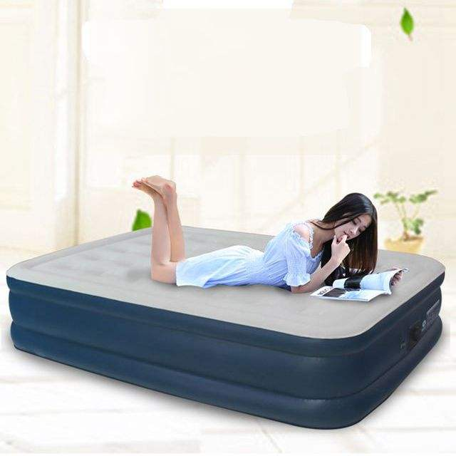 Queen size 3 layers inflatable bed air bed mattress built-in pump