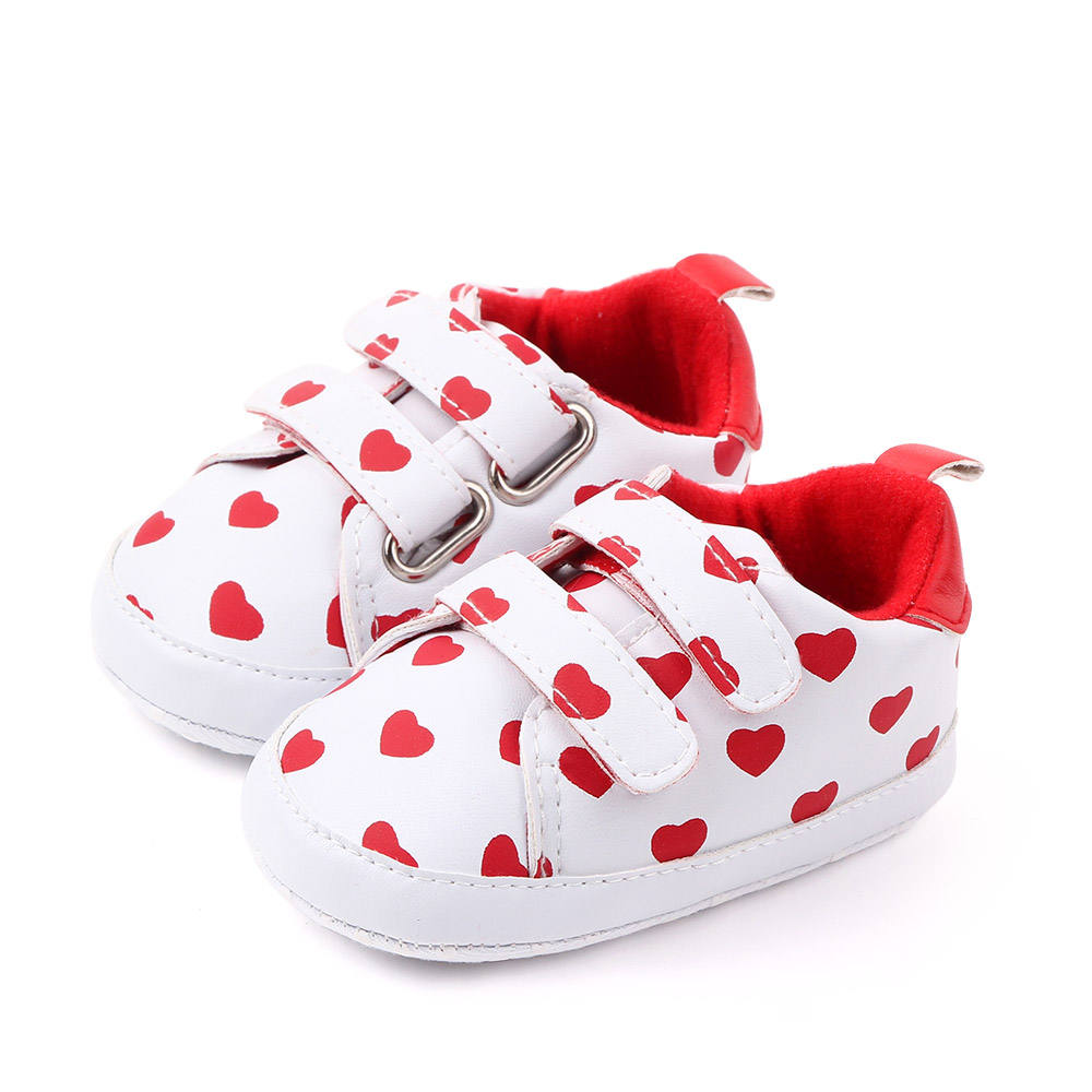 Cute star&hearted shaped PU wholesale new born baby shoes unisex