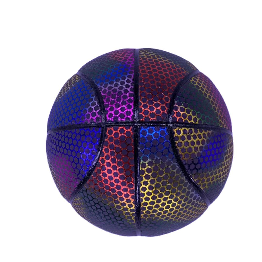 2021 wholesale glowing colorful ball good quality girls custom basketball for training