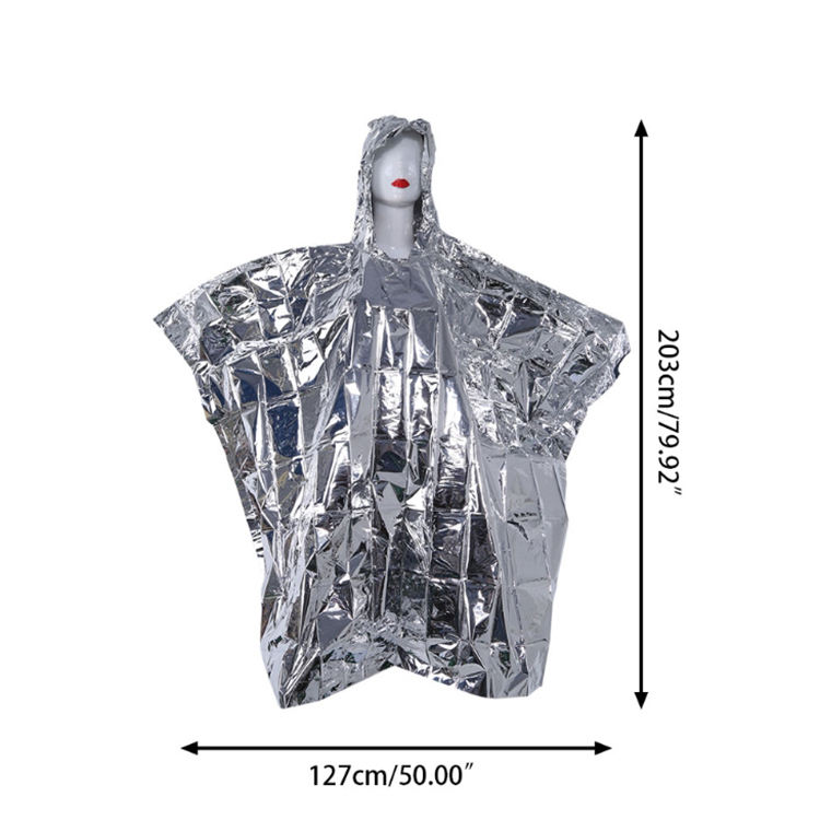 Survival Insulation Isothermic Emergency Poncho