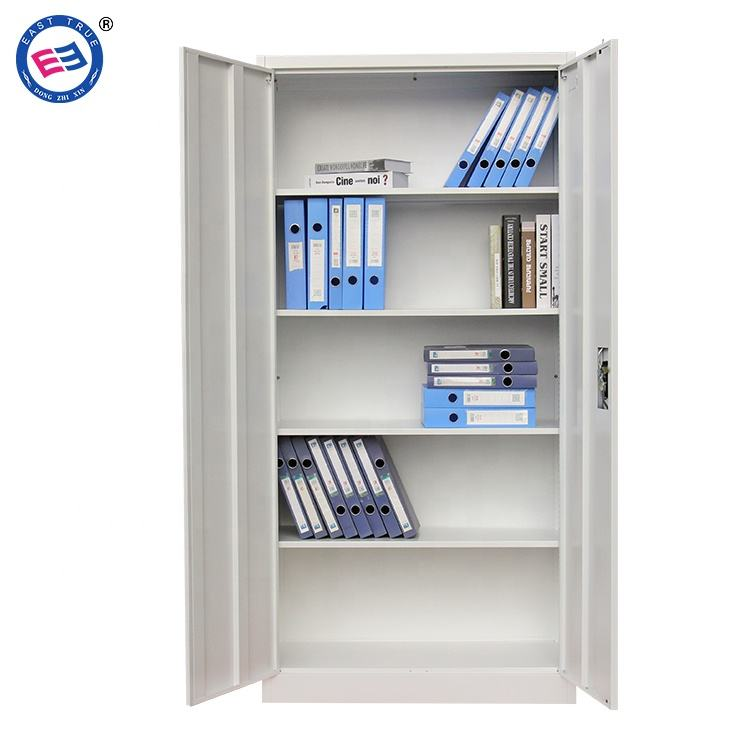 Factory price double door steel file cabinet metal cupboard 2 door iron file cabinet
