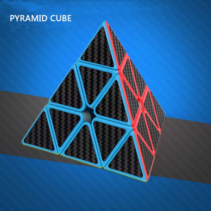YIwu Wholesale 3D puzzle toy gift Intelligence Development triangle Carbon Fiber Pyramid Speed magic cube