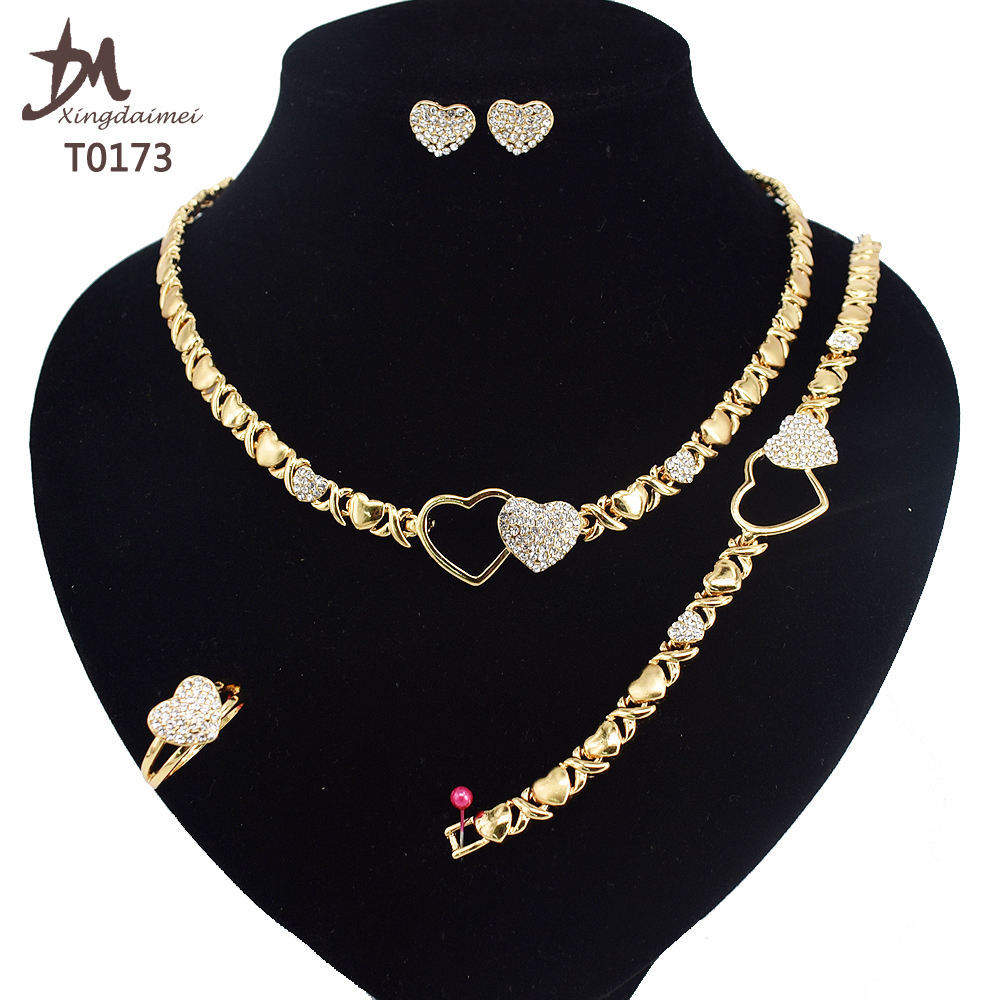 T0173 african High quality gold jewelry women jewelry set 24k gold plating jewelry set