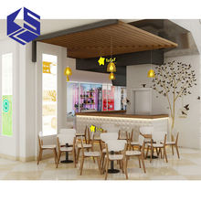 Hot sale wooden milk tea shop interior design for sale