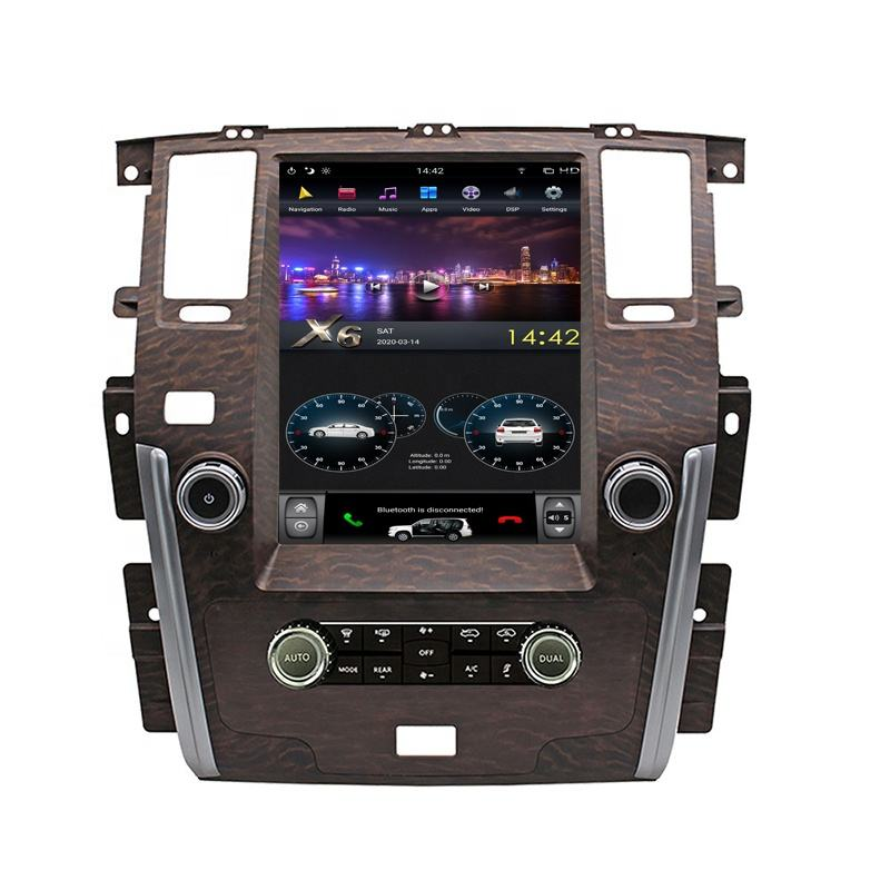 12.1'' Vertical Screen 4+64GB Android Car Multimedia Player Radio GPS Navigation for NISSAN PATROL 2010-2018 with CarPlay DSP
