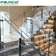Decorative Stainless Steel Floor Mounted Fiberglass Flexible Post Staircase Stair Tempered Glass Handrail Design Prices
