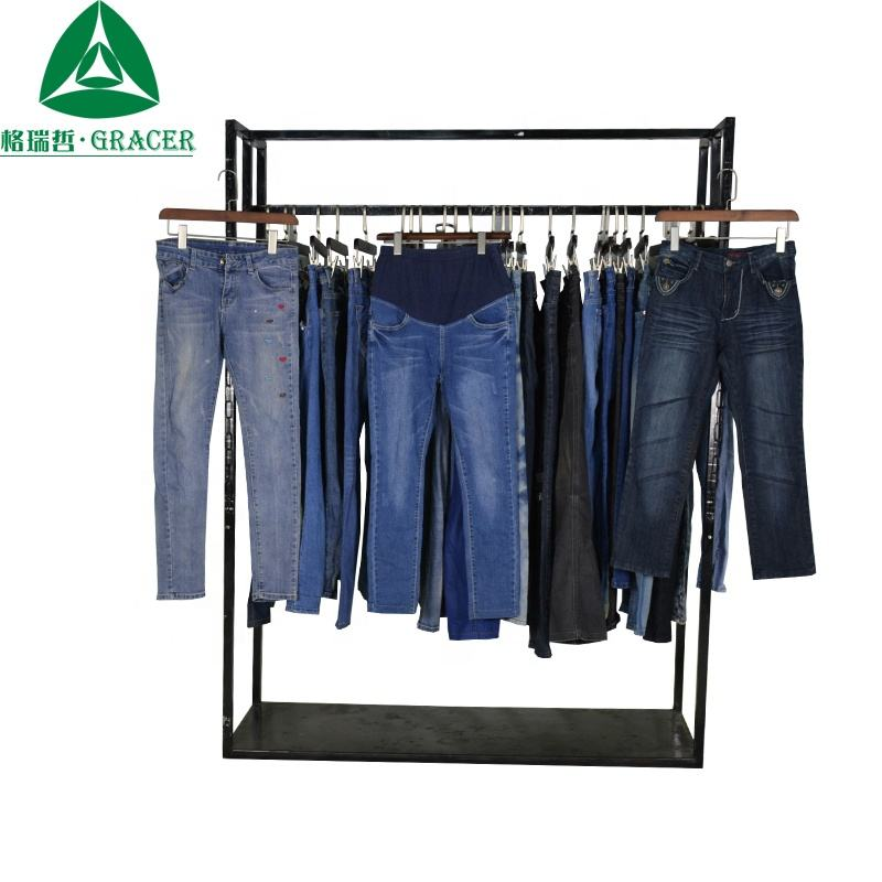 Used Denim Pants Used clothing Second Hand Clothes In 100 KG Bale