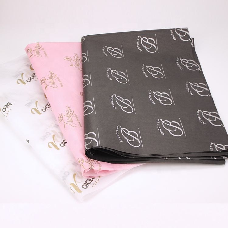 Brand Logo Printed 17Gsm / 22G / 28G / A4 Size Wrapping Paper , Customized Tissue Paper With Company Logo