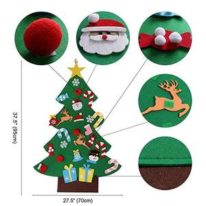 Small White Christmas Tree Christmas Hanging Crafts Decoration Kits