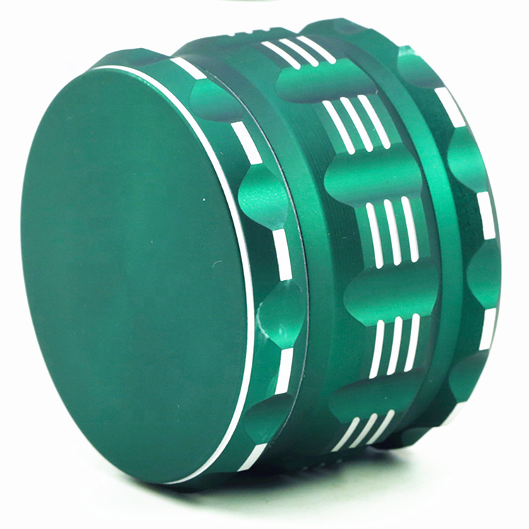 63mm aluminum silicone coated weed Herb Grinder with Custom logo no MOQ