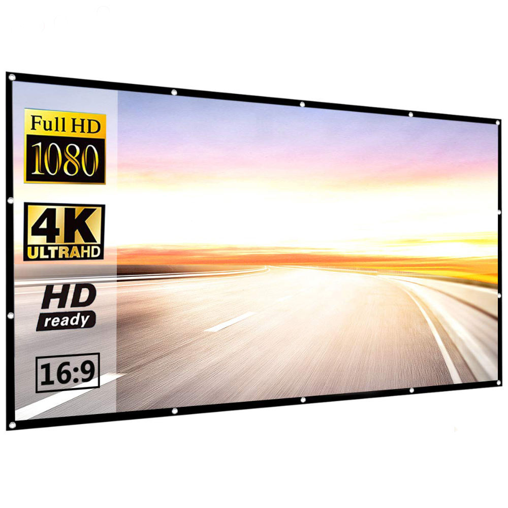 Foldable high quality 120 inches thick Projector Screen for Home theater or outdoor travel