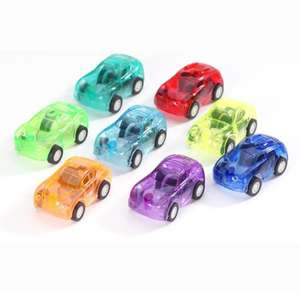 Pack of 30 Assorted Colors Mini Toy Cars Perfect Easter Egg Fillers Pull Back Let Go Plastic Racer Cars