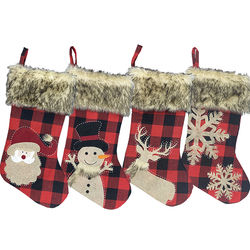 2020 Wholesale Cloth Material Stocking Suitable For Christmas Decorating
