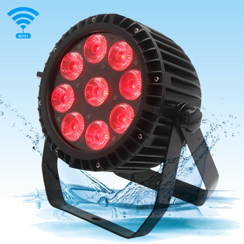 Stage Ip65 Waterproof 9x18W RGBWa+uv 6in1 Hot selling Battery Par/Rgbwauv Led Party Battery Par Light