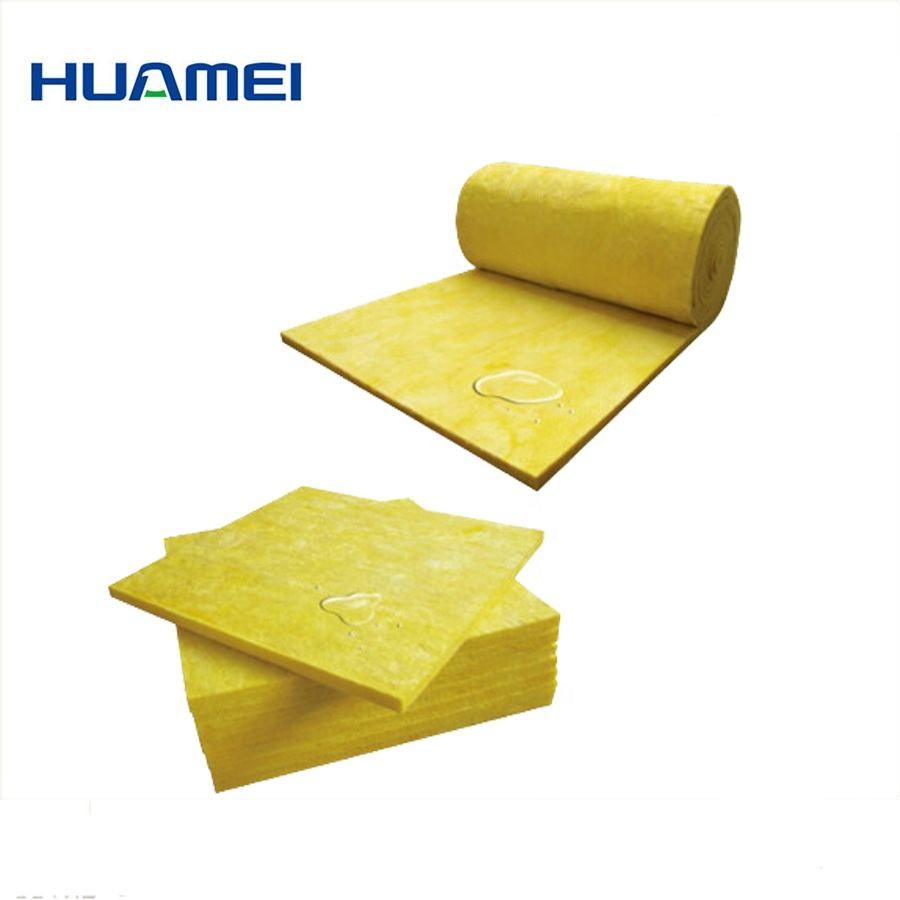 Heat insulation fiber glass wool pipe r1.5-r4.0 cellular foam glass wool block insulation glass wool with black covering