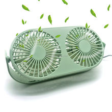 Small Bean Desktop 2-Head Aromatherapy Fan USB Mini Dual Fan Summer Desk Table Cooling Fans