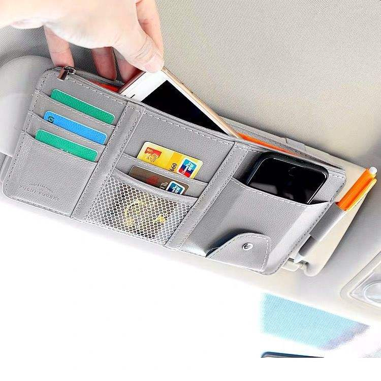XMB Auto Interior Accessories Truck Storage Pocket car visor card holder with sunglass holder