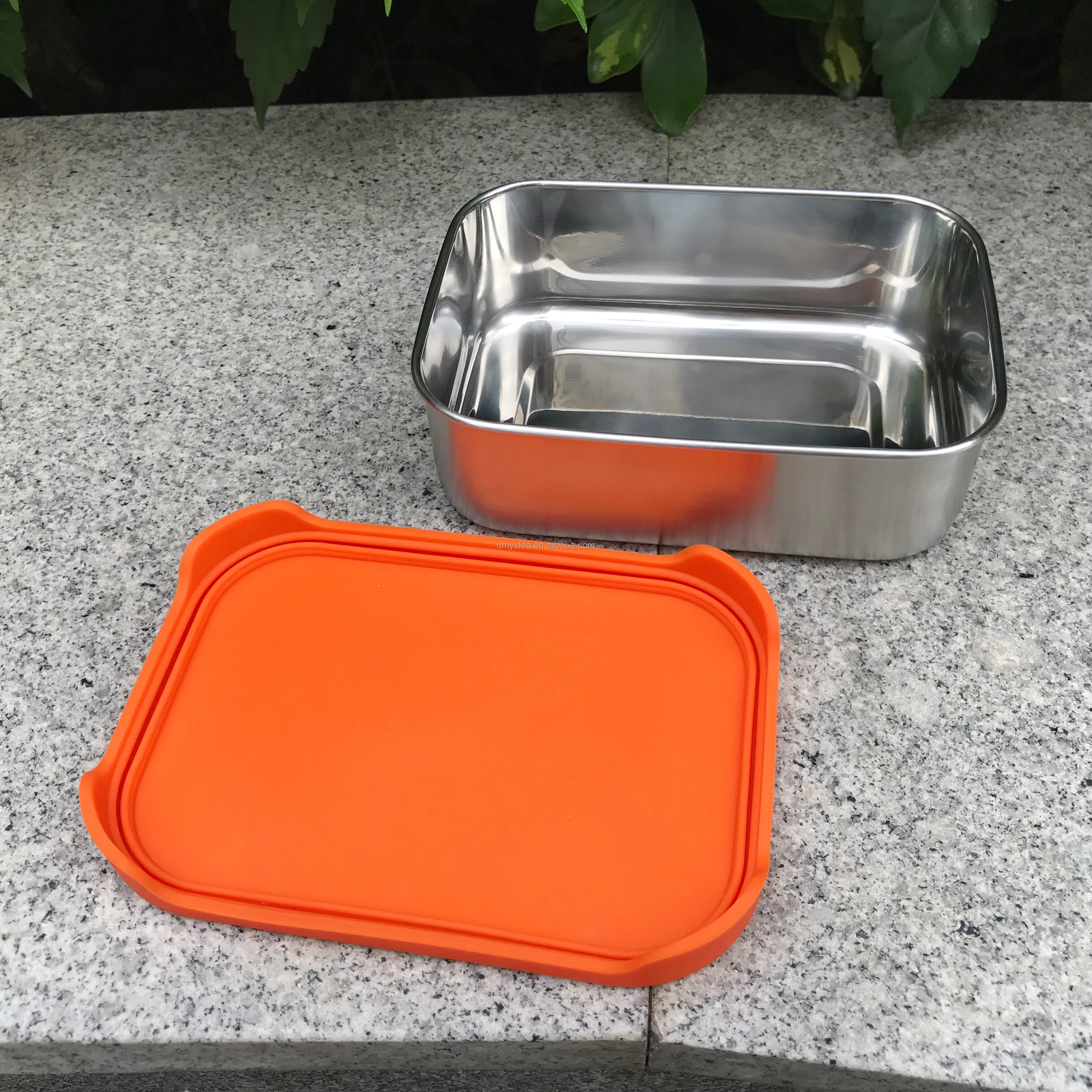 Leak Proof Stainless Steel Food Container & Condiment Holder,Metal Lunch Box Bento Box Nesting Storage,Portion Snacks Dressings