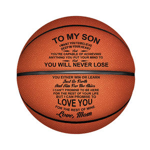 Engraved Basketball Men's Personalized Basketball Indoor/Outdoor Sport Training Basketball Amateur Professional Players Gift