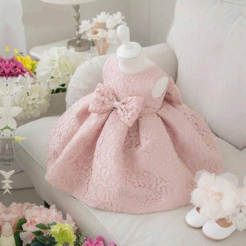 BBZ Newborn Baby Party Dress Girl Cute Kids Summer Formal First Birthday Party 2 Year Old Girl Communion Dress
