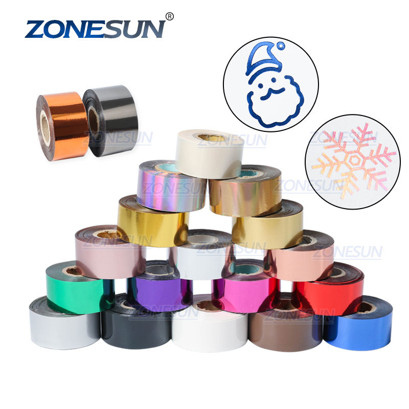 ZONESUN 3CM 14 Colors Hot Stamping Foil Hot Foil Stamping Paper For Stamping Machine