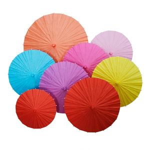 60cm/40cm/30cm/20cm Colorful DIY Mini Paper Parasol Umbrellas Small Kids School Gifts