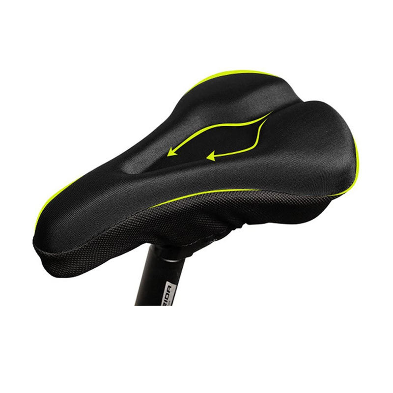 comfy western bicycle saddle cover memory foam gel padded cooling bike seat cover cushion with waterproof dust cover