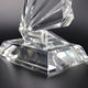 Crystal Wings Shape Trophy New Custom High Quality Wings Shape Optical Crystal Award Trophy Vender -OCA041