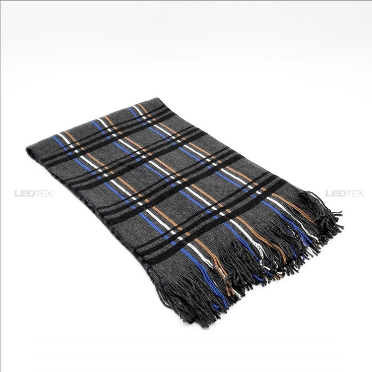 Hot Sale Fashion 100% Acrylic Men Shawl Winter Season Scarf