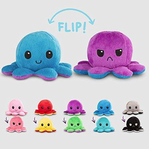 RTSYE-664 Hot Reversible Flip Octopus Stuffed Plush Doll Colorful Soft Cute Best Children Gift Home Reversible Octopus toys