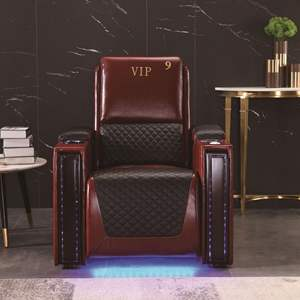 TV kamer sofa lederen zetel VIP multi-functionele licht luxe stoel video kamer elektrische massage smart Cabine Home Theater sofa
