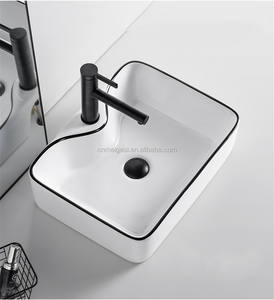 Lavabo Bathroom Decal Coloured Top Washing Basins Ceramic Sink Small