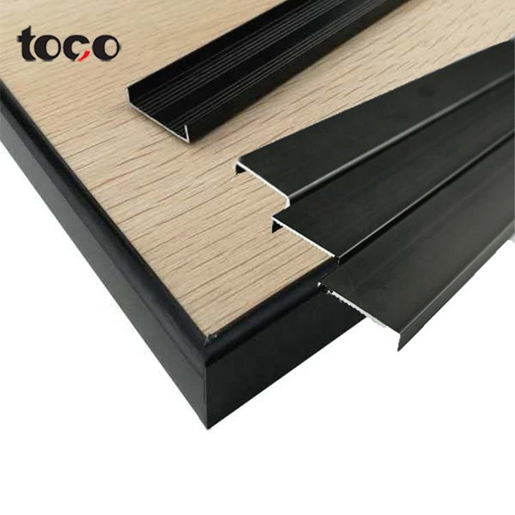 TOCO Shaped Flexible Profile Pvc Aluminum Furniture Shape Molding Edging U Edge Banding Trim Strip