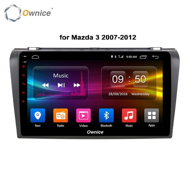 Ownice <span class=keywords><strong>Supporto</strong></span> 4G SIM Card Mazda 3 9 Pollici Migliore Per Auto <span class=keywords><strong>Portatile</strong></span> Android Lettore DVD Per Auto