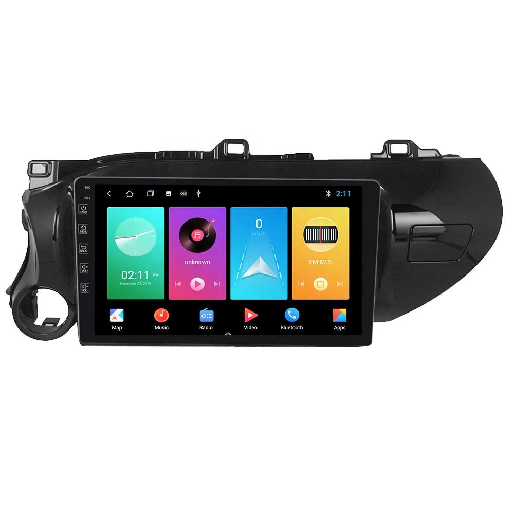 M Series Android Car Video Radio Navigation Player For Toyota Hilux 2016-2018 Car Multimedia Stereo Audio Auto GPS System no dvd