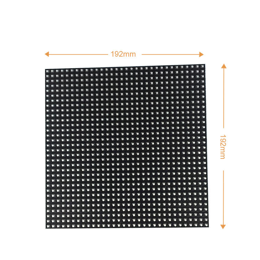 P6 led-modul 192*192mm 32*32dots smd3528 16S indoor tv screen display led volle farbe video wand taxi top werbung led-panel