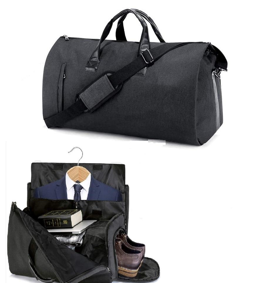 Suit Travel Bag Carry On Garment Bag with Shoes Compartment Duffle Bag