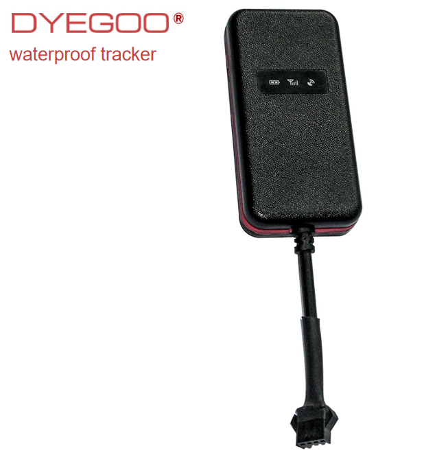 Dyegoo vehicle gps tracker waterproof spy relay battery history playback GT003 motorcycle car gps tracking device google map