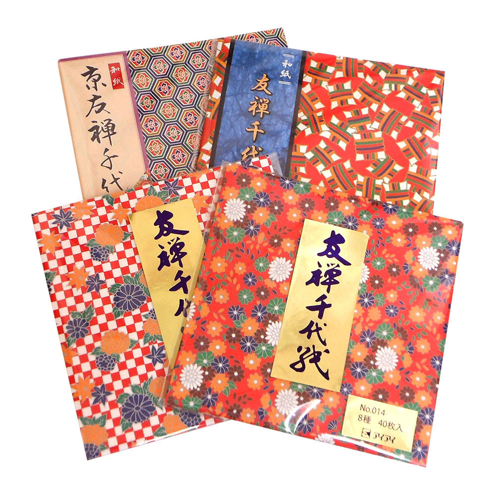 High Strength Yuzen Chiyogami Japanese Square Origami Paper For Decoration