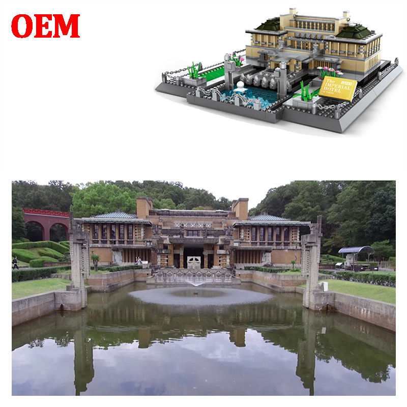 OEM ODM Customized design DIY mini architecture children stacking brick toy greek building nano block