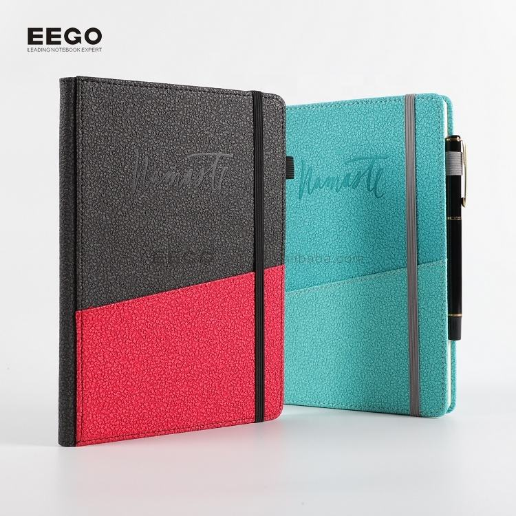 2018 amazon briefpapier pu leather cover elastische band samenstelling planner notebook binding hardcover met pen set