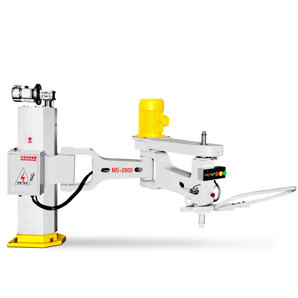 Factory Price wanlong ms-2600 swing arm grinder manual hand granite line slab polishing machine for marble and granite