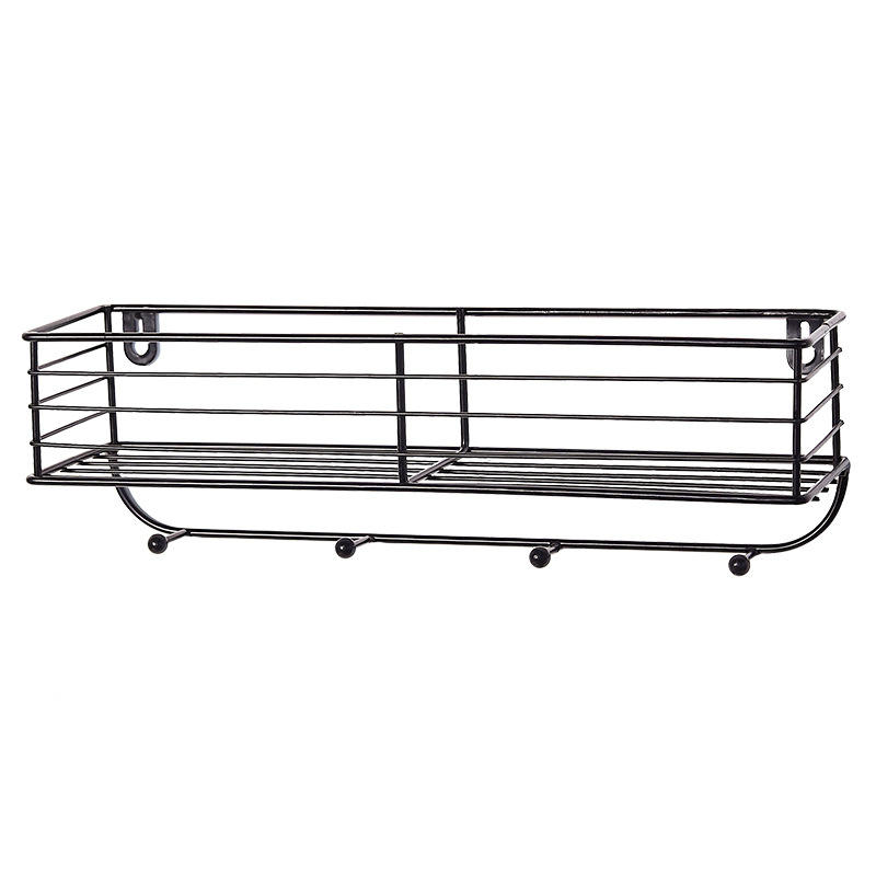 Wall decor black garden metal wire wall shelf wall mounted hanging shelves planter stand